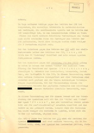 """Aktennotiz zur Aktion """"Blitz"""""""