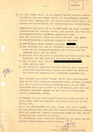 """Kurze Einschätzung über den bisherigen Verlauf der Aktion """"Blitz"""""""