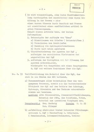 """Plan über die operative und propagandistische Auswertung der Aktion """"Blitz"""""""