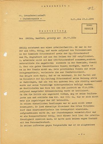 Beurteilung zu Manfred Smolka