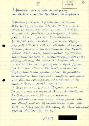 Bericht über eine Delegation aus Montenegro
