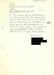 """Brief eines """"Selbstwerbers"""" für eine Reise zur Fußball-Weltmeisterschaft 1974"""
