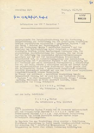 """Information zum ZOV """"Korinther"""" gegen die Initiatoren des """"Querfurter Papiers"""""""