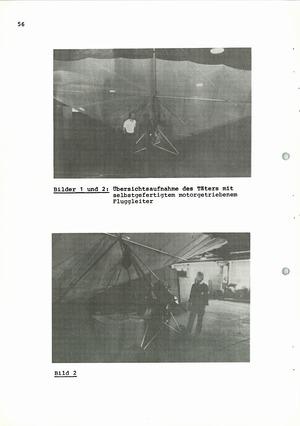Dokumentation spektakulärer Fluchtversuche mit Hilfe von Fluggeräten