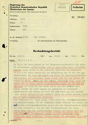 Bericht über eine Beobachtung von Karl Laurenz in West-Berlin