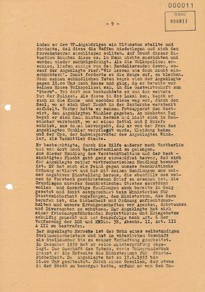 Urteil des Bezirksgerichts Dresden gegen Beteiligte am Volksaufstand