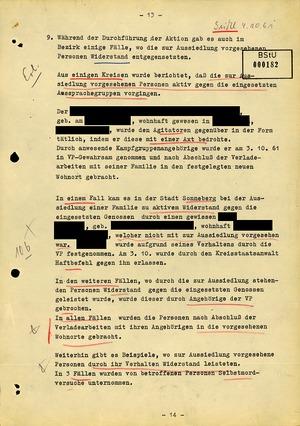 """Abschlussbericht der Bezirksverwaltung Suhl zur Aktion """"Festigung"""""""