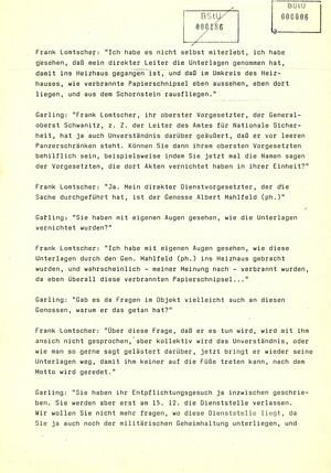 Meldung des Berliner Rundfunks zur Vernichtung von Stasi-Akten