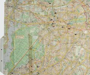 Karte der MfS-Spezialkräfte (AGM/S) zur Entführung von Peter Lorenz