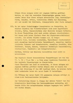 """Schreiben Erich Mielkes an den Leiter der BV Potsdam zur Aktion """"Licht"""""""