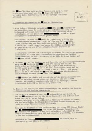 """Vorschlag zur """"Wiederaufnahme in die DDR im begründeten Einzelfall"""""""