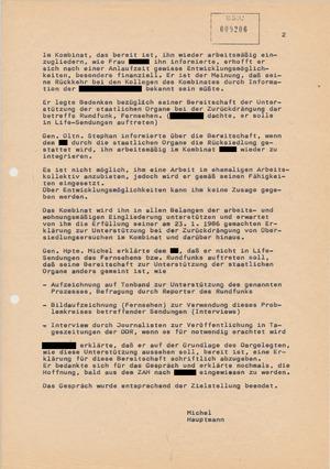Gespräch mit einem ehemaligen DDR-Bürger im ZAH Röntgental