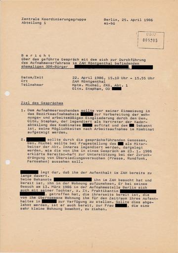 """Ergebnisbericht zur Durchführung der OPK """"Einflug"""""""