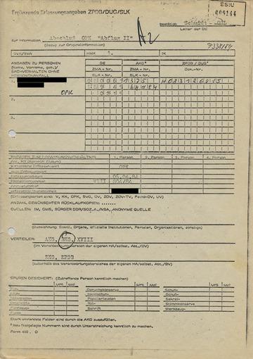 """Abschlußbericht zur Operativen Personenkontrolle """"Abflug II"""""""