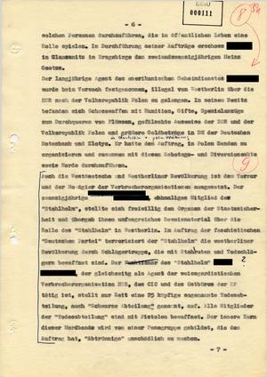 """Entwurf einer Regierungserklärung zur Aktion """"Blitz"""""""