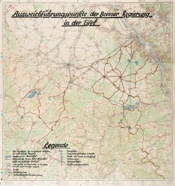 Landkarte zum Regierungsbunker im Ahrtal