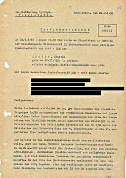 Bericht über die Festnahme des ehemaligen Grenzpolizisten Manfred Smolka