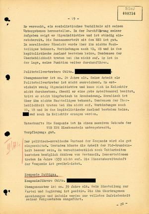 Einschätzung über die Lage an der Staatsgrenze zur Bundesrepublik im Bezirk Gera