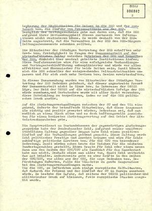 Informationen zu Meinungsäußerungen eines Mitarbeiters der Ständigen Vertretung der BRD zum Honecker-Besuch