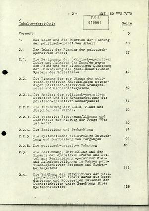 """Dissertation """"Die Planung der politisch-operativen Arbeit im Ministerium für Staatssicherheit"""""""