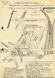 Skizze des Einsatzes der Kasernierten Volkspolizei zur Befreiung der SED-Bezirksleitung in Halle