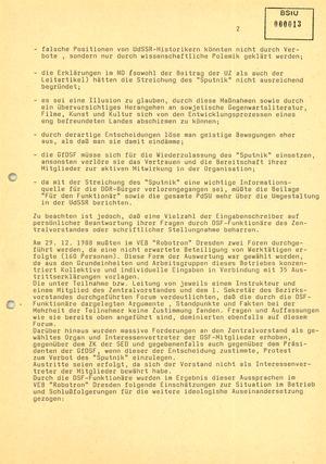 Weitere Reaktionen von Mitgliedern der Gesellschaft für Deutsch-Sowjetische Freundschaft (DSF)