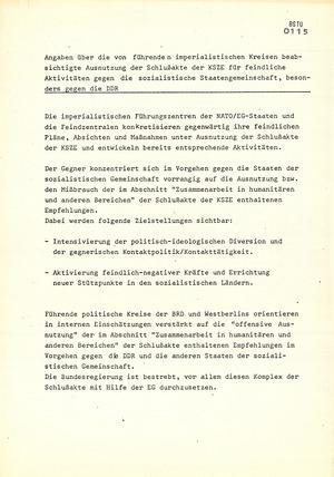 """""""Feindliche Ausnutzung"""" der KSZE-Beschlüsse durch die Bundesrepublik Deutschland, die USA und Frankreich"""