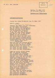 """Informationsbericht über ein abgehörtes Lied von Wolf Biermann: """"Stasiballade"""""""
