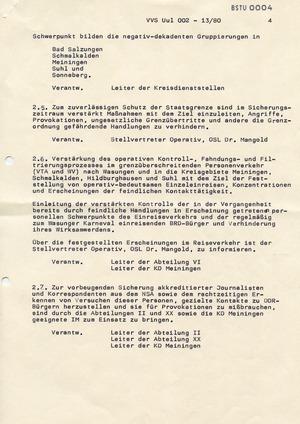 """""""Maßnahmeplan"""" gegen """"politische Untergrundtätigkeit"""" rund um den Wasunger Karneval"""