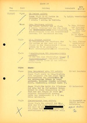 Ausschnitt aus einem Lagebericht von MfS und Volkspolizei