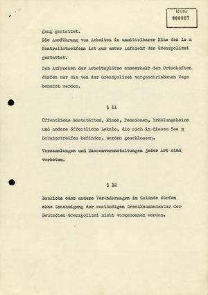 Polizeiverordnung zur Absicherung des Grenzstreifens zur Bundesrepublik Deutschland