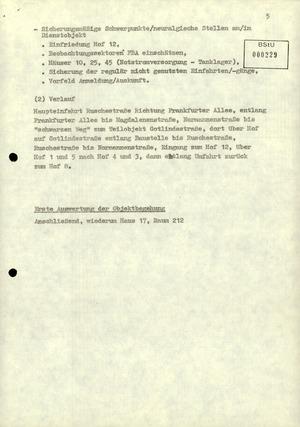 Einweisung zu einer Begehung des Dienstobjektes Normannenstraße