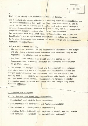 Strafrechtliche Einschätzung zum Aufruf der Initiativgruppe SDP