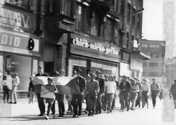 Proteste in Ostrava (Ostrau)