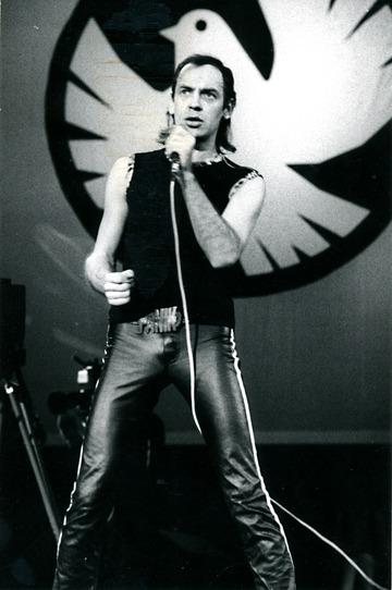 Udo Lindenberg bei seinem Konzert am 25.10.1983 im Palast der Republik