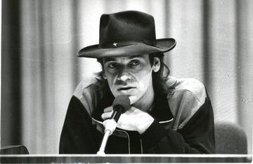 Udo Lindenberg bei der Pressekonferenz am 25.10.1983