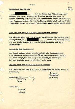 """Vorschlag zur Werbung eines """"Geheimen Informators"""" für den Einsatz in Niedersachsen"""