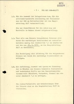 Durchführungsbestimmung zur Dienstanweisung 4/71 hinsichtlich der Absicherung der DDR-Olympiamannschaft