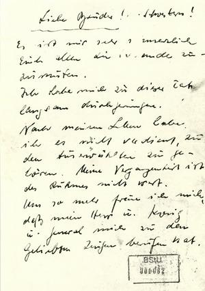Abschiedsbrief an die Schwestern und Brüder des Kirchenkreises Zeitz (von Brüsewitz)
