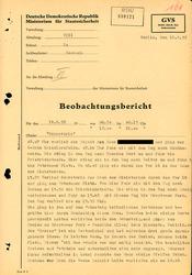 Bericht über eine Beobachtung von Elli Barczatis in West-Berlin