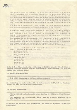 Wahlfall '89 - Dokumentation der Opposition über Wahlfälschungen