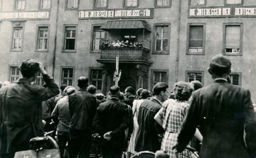 Sturm auf das Polizeipräsidium in Magdeburg-Sudenburg
