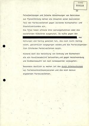 Referat über Arbeit der Parteikontrollkommissionen der SED bei der Durchführung von Parteiverfahren