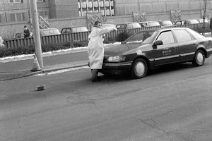 Zwischenfall mit einem Fahrzeug der West-Berliner US-Garnison vor der Stasi-Zentrale