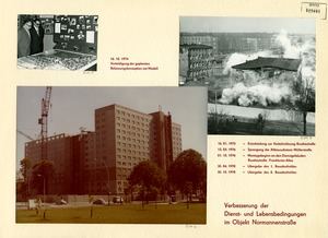 """Schautafel zum Bau von """"Haus 15"""" in der Stasi-Zentrale"""
