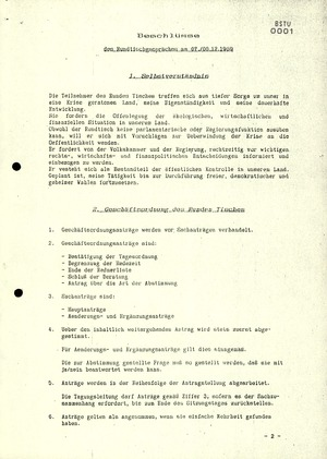Protokoll der ersten Sitzung des Zentralen Runden Tisches in der DDR