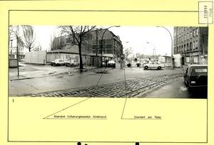 Fotodokumentation eines Fluchtversuchs auf der Grenzübergangsstelle Chausseestraße