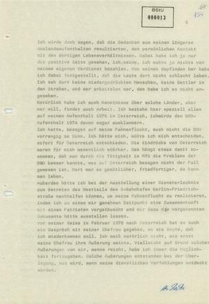 Vernehmungsprotokolle Werner Teskes vom 16. und 19. Januar 1981