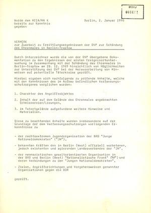 """Dokumentation zur """"Schändung des Ehrenmales"""" in Berlin-Treptow"""