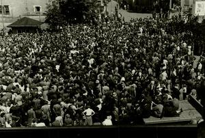 Demonstration von Arbeitern des VEB Rheinmetall in Sömmerda am 17. Juni 1953